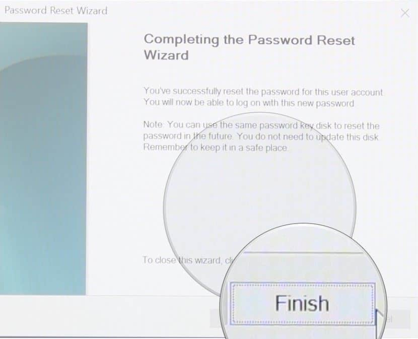 How to use a password reset disk on Windows 10