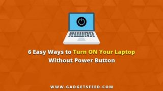 How to turn on laptop without power button