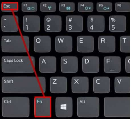 press fn and esc key
